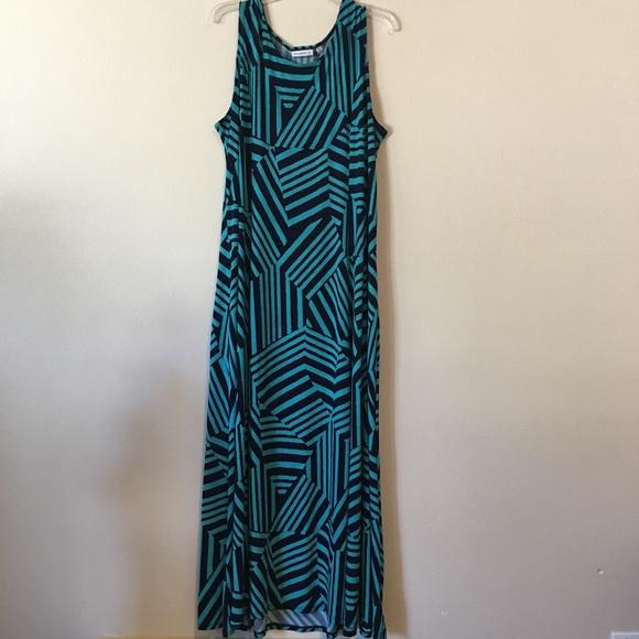 Susan Graver Dresses Maxi Dress Aqua Blue Size Xl Poshmark
